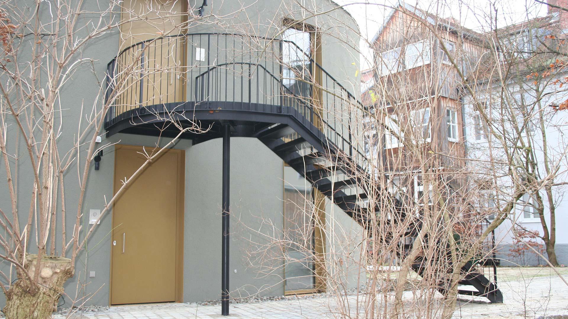 Außentreppe, Metalltreppe